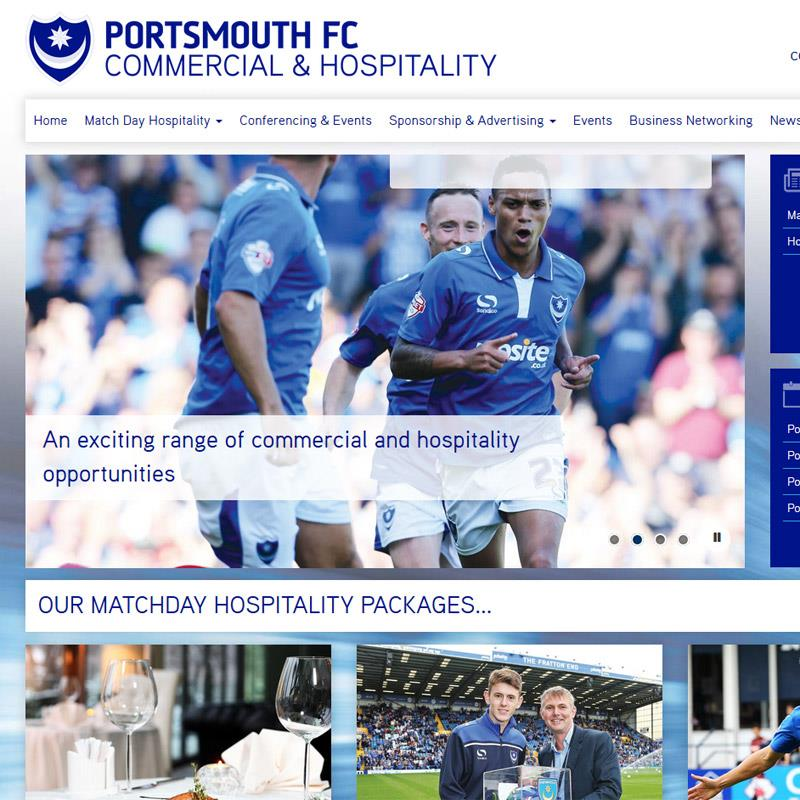Hospitality and Sponsorship at Fratton Park