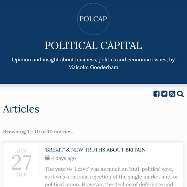 Political Capital Blog