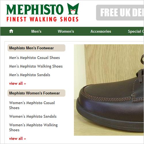 Ecommerce Website for Mephisto Footwear