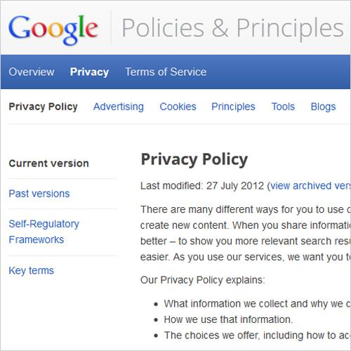 Google Privacy Laws
